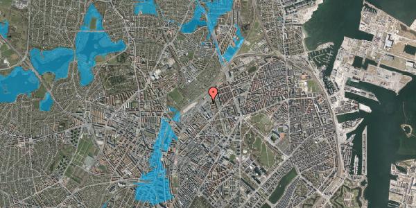 Oversvømmelsesrisiko fra vandløb på Emblasgade 39, 1. tv, 2100 København Ø