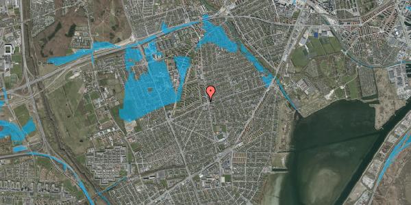 Oversvømmelsesrisiko fra vandløb på Hvidovrevej 336C, 1. tv, 2650 Hvidovre
