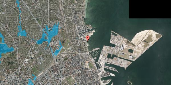 Oversvømmelsesrisiko fra vandløb på Strandpromenaden 67, st. , 2100 København Ø