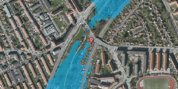 Oversvømmelsesrisiko fra vandløb på Hf. Grænsen 1C, 2000 Frederiksberg