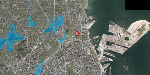 Oversvømmelsesrisiko fra vandløb på Svanemøllens Kaserne 43, 2100 København Ø