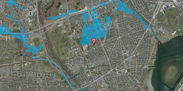 Oversvømmelsesrisiko fra vandløb på Hf. Dahlia 16, 2650 Hvidovre