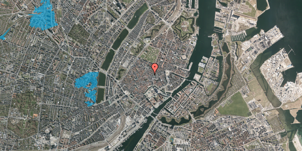Oversvømmelsesrisiko fra vandløb på Købmagergade 26, 4. tv, 1150 København K