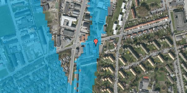 Oversvømmelsesrisiko fra vandløb på Bibliotekvej 49A, 1. , 2650 Hvidovre