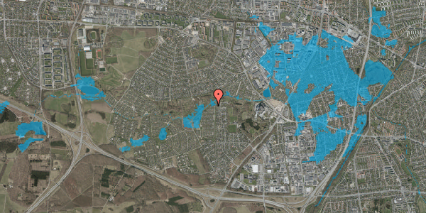 Oversvømmelsesrisiko fra vandløb på Vængedalen 925, 2600 Glostrup