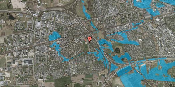 Oversvømmelsesrisiko fra vandløb på Kongsgården 44, 2630 Taastrup