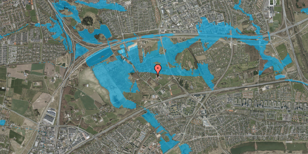 Oversvømmelsesrisiko fra vandløb på Idræts Alle 15C, 2625 Vallensbæk