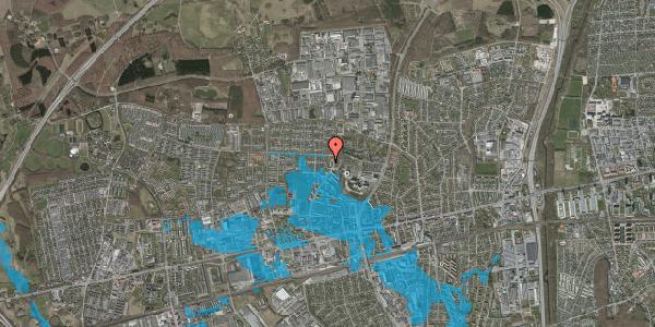 Oversvømmelsesrisiko fra vandløb på Haveforeningen Hersted 48, 2600 Glostrup