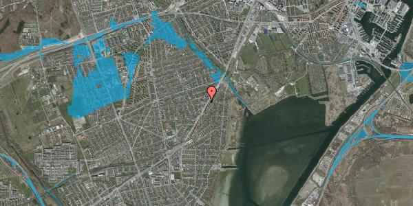 Oversvømmelsesrisiko fra vandløb på Gammel Køge Landevej 256, 2650 Hvidovre