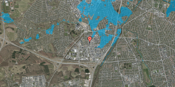 Oversvømmelsesrisiko fra vandløb på Ydergrænsen 45, 2600 Glostrup