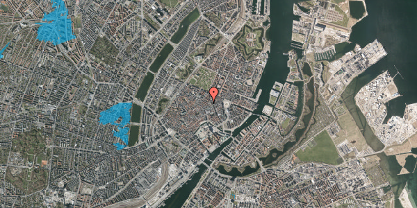 Oversvømmelsesrisiko fra vandløb på Pilestræde 32B, 1. , 1112 København K