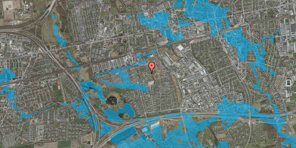 Oversvømmelsesrisiko fra vandløb på Løkkekrogen 45, 2625 Vallensbæk