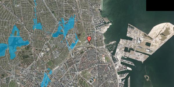 Oversvømmelsesrisiko fra vandløb på Svanemøllens Kaserne 38, 2100 København Ø
