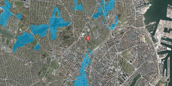 Oversvømmelsesrisiko fra vandløb på Bispebjerg Bakke 13, 2400 København NV