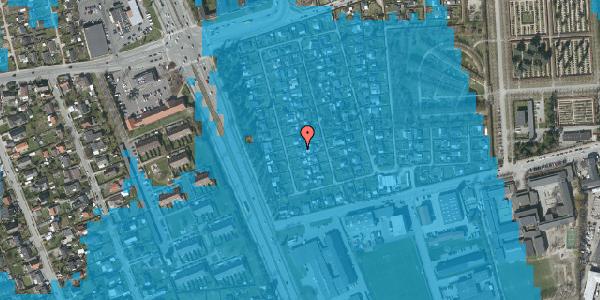 Oversvømmelsesrisiko fra vandløb på Hf. Svarø 22, 2650 Hvidovre