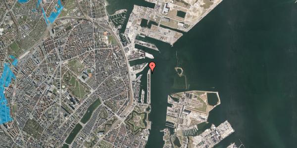 Oversvømmelsesrisiko fra vandløb på Langelinie Allé 51, 2100 København Ø