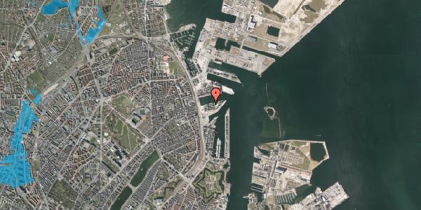 Oversvømmelsesrisiko fra vandløb på Marmorvej 31, 1. tv, 2100 København Ø