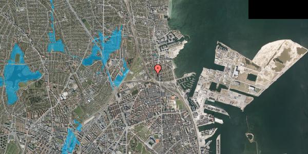 Oversvømmelsesrisiko fra vandløb på Ryvangs Allé 4E, 2100 København Ø