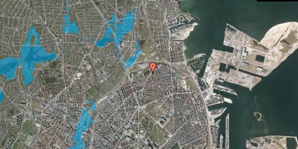 Oversvømmelsesrisiko fra vandløb på Vognmandsmarken 91, 2100 København Ø