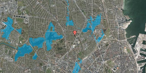Oversvømmelsesrisiko fra vandløb på Bispebjerg Parkallé 17, st. , 2400 København NV