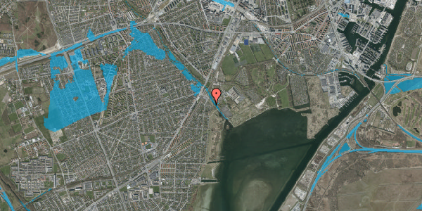 Oversvømmelsesrisiko fra vandløb på Engstykkevej 15, 2650 Hvidovre