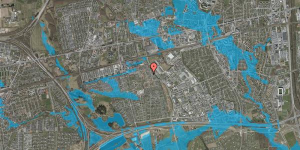 Oversvømmelsesrisiko fra vandløb på Grønkløvervænget 36, 2625 Vallensbæk