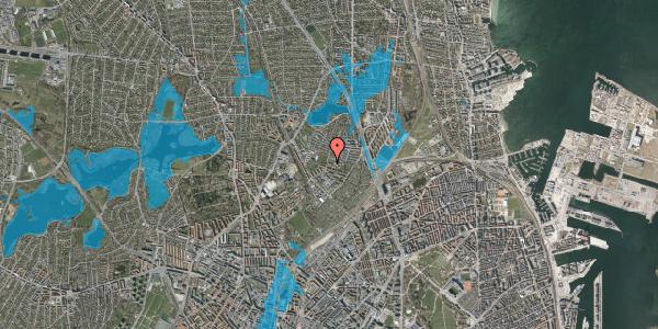 Oversvømmelsesrisiko fra vandløb på Keldsøvej 15, 2100 København Ø