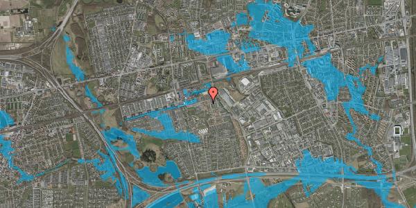 Oversvømmelsesrisiko fra vandløb på Kløvervænget 64, 2625 Vallensbæk