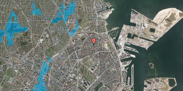 Oversvømmelsesrisiko fra vandløb på Nygårdsvej 25, 3. tv, 2100 København Ø