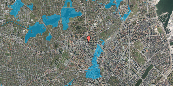 Oversvømmelsesrisiko fra vandløb på Dortheavej 2, 2. 13, 2400 København NV