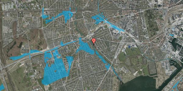 Oversvømmelsesrisiko fra vandløb på Sydkærsvej 90, 2650 Hvidovre