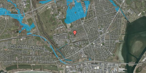 Oversvømmelsesrisiko fra vandløb på Mellemvangsvej 60, st. , 2650 Hvidovre