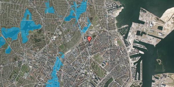 Oversvømmelsesrisiko fra vandløb på Æbeløgade 15, st. , 2100 København Ø