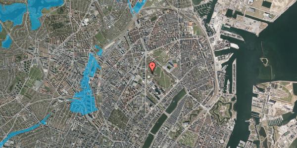 Oversvømmelsesrisiko fra vandløb på Edel Sauntes Allé 13, 2100 København Ø