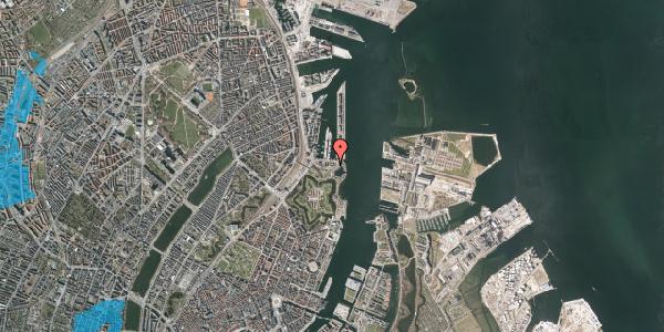 Oversvømmelsesrisiko fra vandløb på Indiakaj 14C, st. th, 2100 København Ø