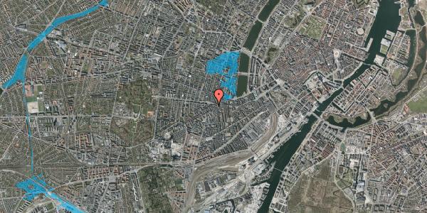 Oversvømmelsesrisiko fra vandløb på Vesterbrogade 90C, 1620 København V