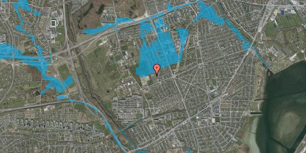 Oversvømmelsesrisiko fra vandløb på Hf. Dahlia 85, 2650 Hvidovre