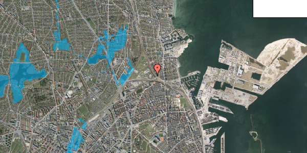 Oversvømmelsesrisiko fra vandløb på Svanemøllens Kaserne 5, 2. 209, 2100 København Ø