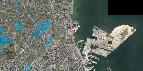 Oversvømmelsesrisiko fra vandløb på Strandpromenaden 69, st. , 2100 København Ø