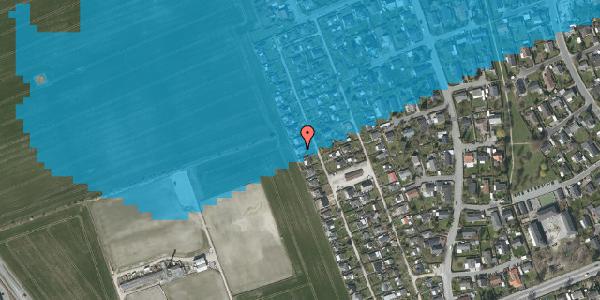 Oversvømmelsesrisiko fra vandløb på Hf. Dahlia 76, 2650 Hvidovre