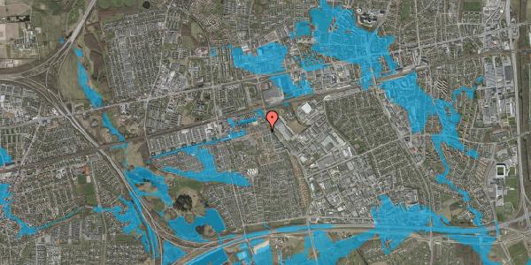 Oversvømmelsesrisiko fra vandløb på Skovkløvervænget 17, 2625 Vallensbæk