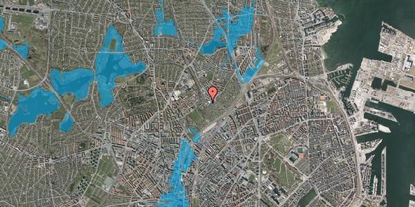 Oversvømmelsesrisiko fra vandløb på Strødamvej 50C, 2100 København Ø