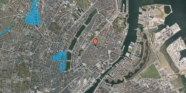 Oversvømmelsesrisiko fra vandløb på Hauser Plads 32A, 1. , 1127 København K
