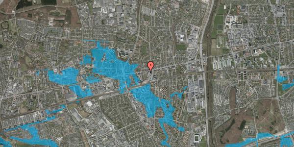 Oversvømmelsesrisiko fra vandløb på Glostrup Shoppingcenter 102, kl. , 2600 Glostrup