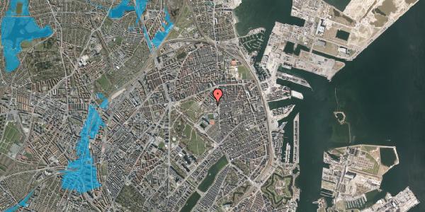 Oversvømmelsesrisiko fra vandløb på Østerfælled Torv 33, 2100 København Ø