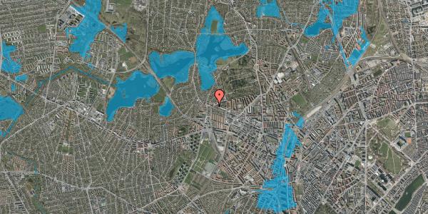Oversvømmelsesrisiko fra vandløb på Skoleholdervej 91, 2. tv, 2400 København NV