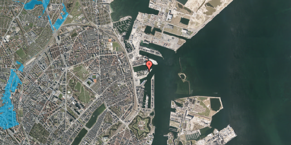 Oversvømmelsesrisiko fra vandløb på Marmorvej 51, 1. , 2100 København Ø
