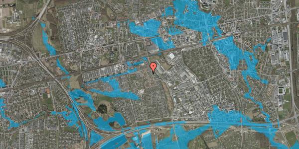 Oversvømmelsesrisiko fra vandløb på Gulkløvervænget 32, 2625 Vallensbæk