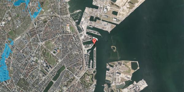 Oversvømmelsesrisiko fra vandløb på Marmorvej 28, 2100 København Ø