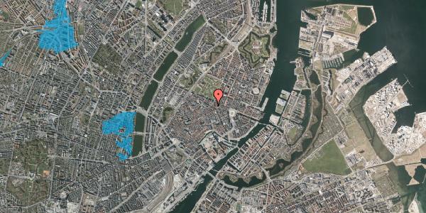 Oversvømmelsesrisiko fra vandløb på Gammel Mønt 12, 1. tv, 1117 København K